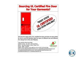 Ready Stock UL Certified Steel Frame Fire Door For Sell