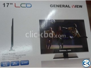 General View LCD Monitor TV with Extra USB