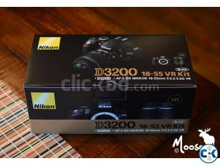 Nikon D3200 with 18-55 VR II