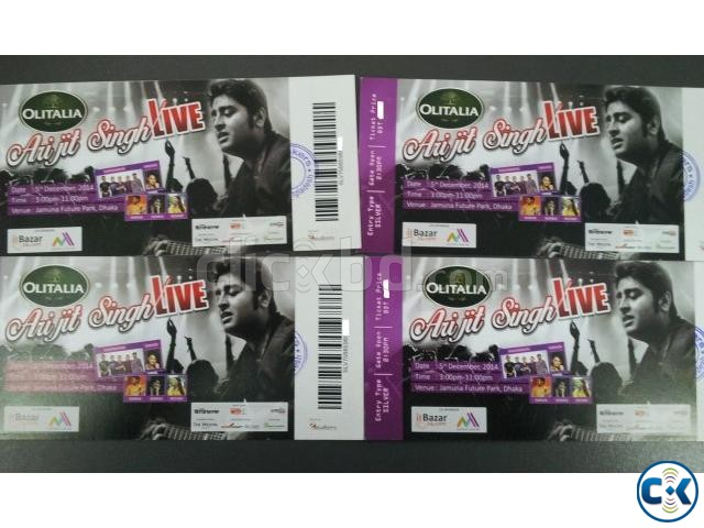 Arijit Singh Concert 4 Silver Tickets | ClickBD large image 0