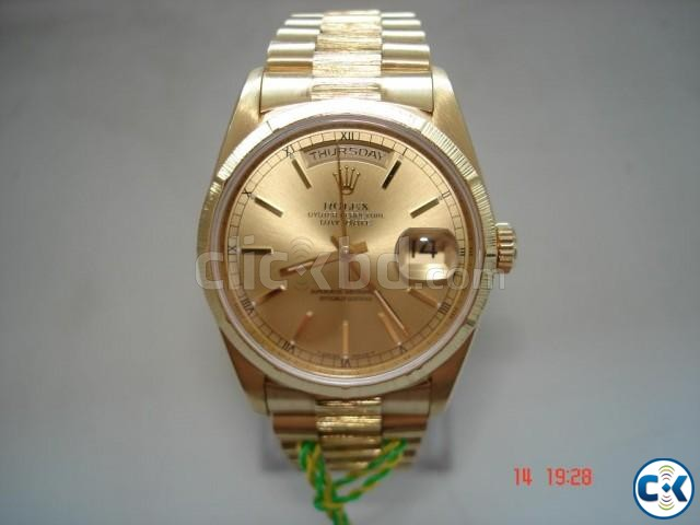 Solid gold original Rolex | ClickBD large image 0
