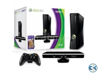 Xbox 360 slim 250gb with Kinect and 25 Games