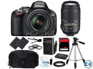 Nikon D5100 18-55mm 55-300mm VR Lens 01556606066