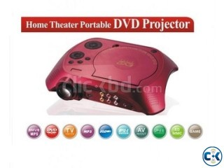 Projector with DVD Player TV Tuner USB Game Controller