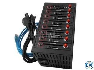 wavecom 8 port modem module gsm gprs sms mms