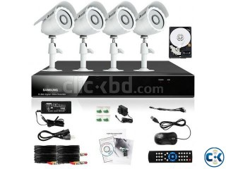 Samsung 4Channel DVR Kit With 4 CCTV Security Camera