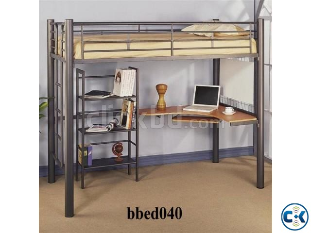 Bunk Bed With Desk Shelf 040