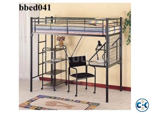 Bunk Bed With Desk Shelf 041