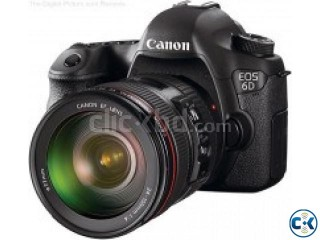 Canon EOS 6D SLR Digital Camera Body with lens