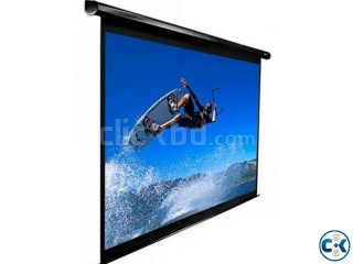 Electric Projection Screen 144 with Remote Control