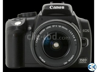 CANON 350d fresh with charger & 18 - 55L,  fresh 17000 hop N