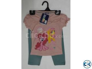 Girls short sleeve printed t-shirt set