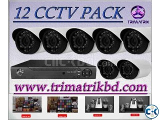 Yomart 420TVL Night Vision CCTV Pack 12