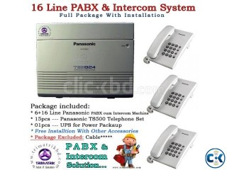 16 Port Panasonic PABX Total Package