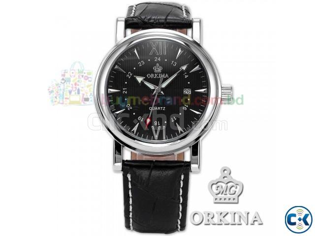orkina mens luxury black white leather clickbd