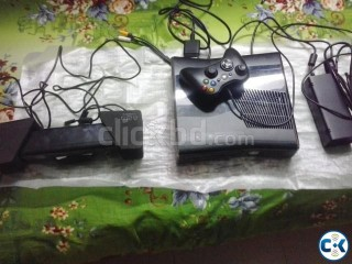 x-box 360 S with kinect. unmodded for sale in dhaka