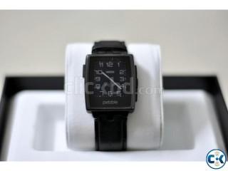 Pebble Steel Black Smart Watch Metal Band