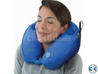 Massage Music Pillow MP3 Speaker U Neck Rest Travel