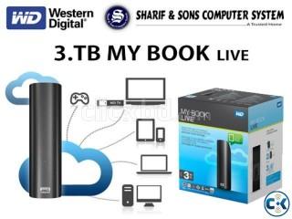 WD 3.TB WiFi External Hard Drive-My Book Live