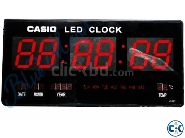 LED Digital Clock with Date Day Temperature ClickBD