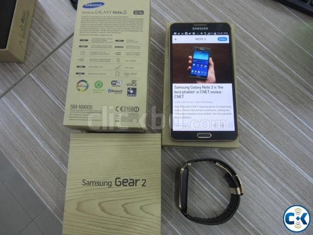Note 3 N9005 with Gear 2 smartwatch | ClickBD large image 0