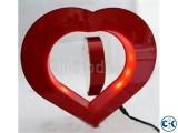 Heart shape magnetic floating photo frame