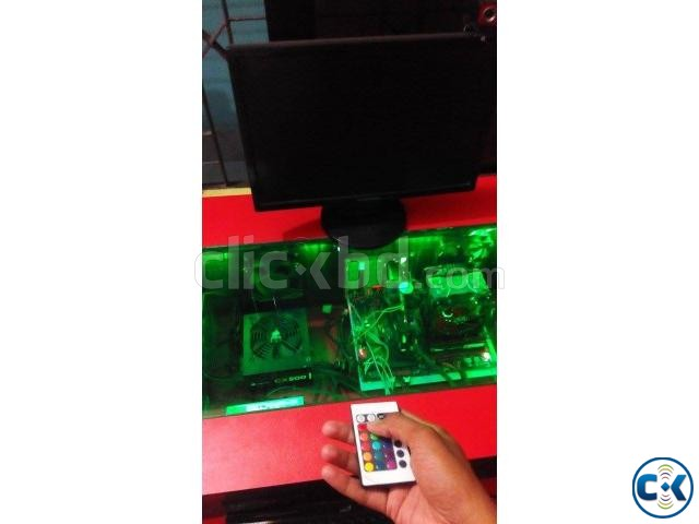 Gaming Computer Table Moded Led Transparent Glas