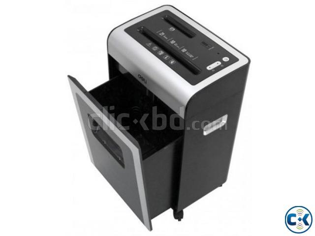 Deli 9915 10-Sheet Capacity 2m min Cross Cut Paper Shredder | ClickBD large image 0
