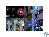 USB Programmable LED mini light small fanI Any Text Messag