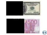 SSD chemical use to clean and restore defaced banknotes