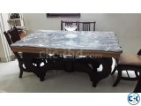 New Stylish Dinning Marble Table-Chair