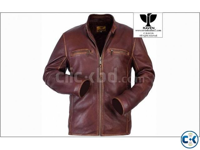RAVEN Genuine Leather Jacket Slim Cut Special  | ClickBD large image 0