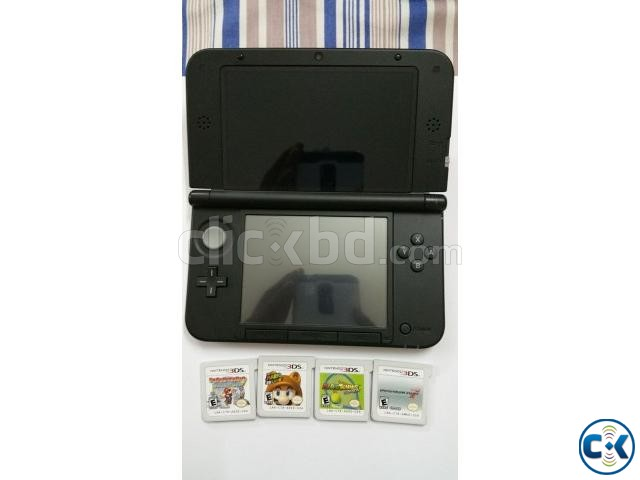 nintendo 3ds xl with 5 mario game | ClickBD large image 0