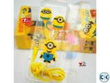Despicable Me 2 Minions Style ear Headphones