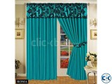 LUXURIOUS FULLY LINED ITALIAN CURTAINS TEAL BLACK 90 x90