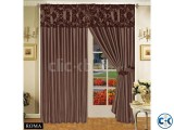 LUXURIOUS FULLY LINED ITALIAN CURTAINS chocoalte 90 x90