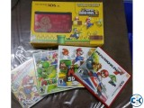 Nintendo 3ds xl with 5 mario game