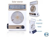 Solar Cherge Syestem Light Fan With Power Bank