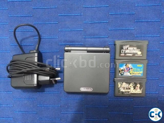 NINTENDO Gameboy Advance SP with games and accessories | ClickBD large image 0
