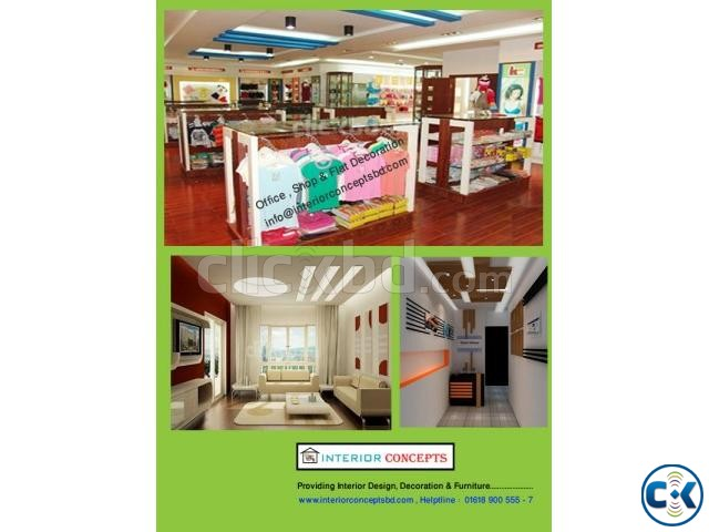 Office Flat Showroom Decoration for whole bangladesh | ClickBD large image 0
