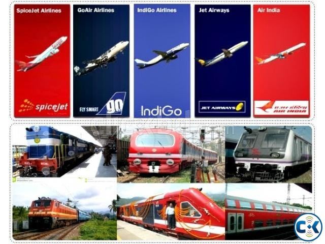 Indian Rail Air Ticket | ClickBD large image 2