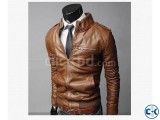 Brown PU Leather Jacket
