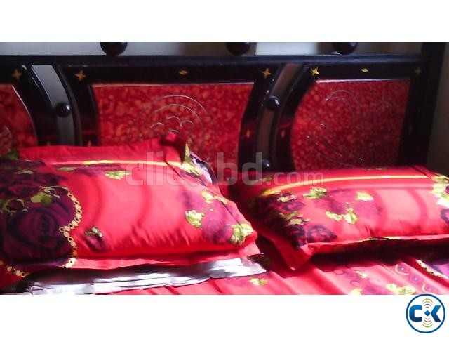 Orginal Steel Frame Double Sized Bed | ClickBD large image 0