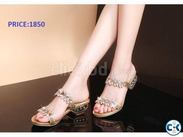 Ladies High Fashion Shoe | ClickBD large image 0