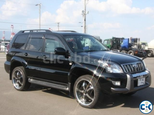 toyota land cruiser prado tx 2003 pure black clickbd. Black Bedroom Furniture Sets. Home Design Ideas
