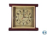 Romansun Dark red Square Wall Clock