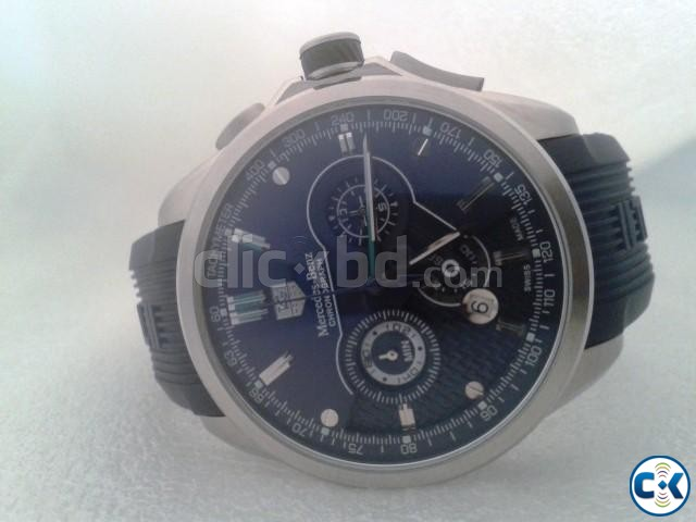 Tag heuer blue mercedes benz sls clickbd for Mercedes benz tag heuer watch price