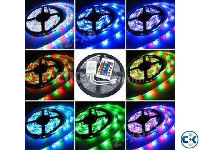 Multi color rgb led strip with remote control and adhesive clickbd multi color rgb led strip with remote control and adhesive clickbd large image 4 aloadofball Images
