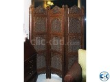 Akhroti Pakistani folding partition Blind Wallnut timber.