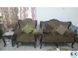 Victoria design mehagoni wood sofa set